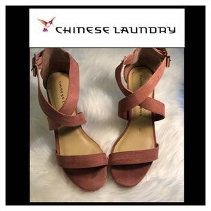 Chinese Laundry Dusty Rose Block Heel Sandals, 7M
